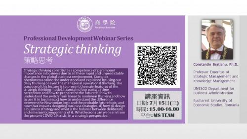 FOB Webinar - Strategic thinking