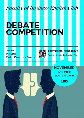 Debate Competition - Faculty of Business English Club