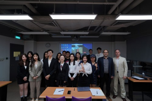 IBC final year students delivered their business proposals in a Hybrid Classroom