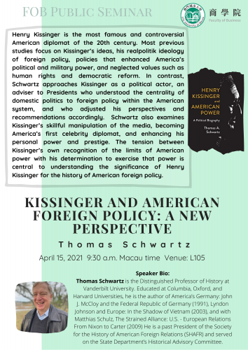 Kissinger and American Foreign Policy: A New Perspective