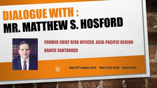 Dialogue With: Mr. Matthew S. Hosford
